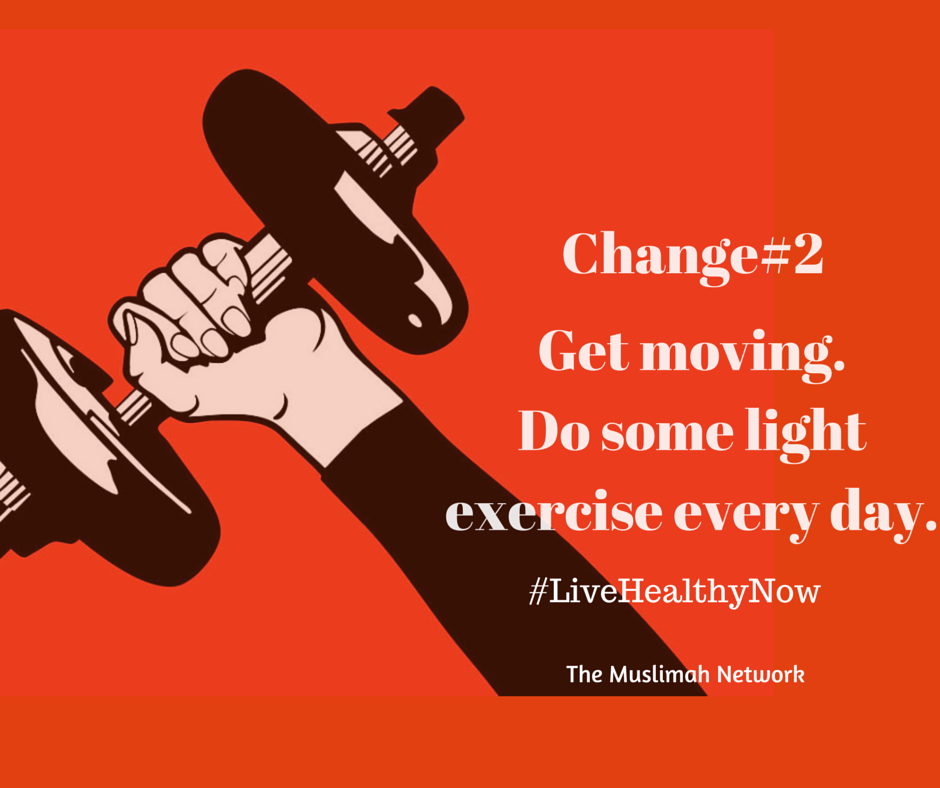 5 ways to get healthy now Change#2