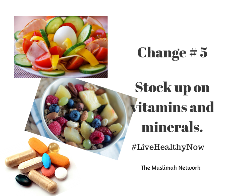 5 ways to get healthy now Change#5